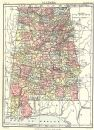 ALABAMA: Showing counties. Britannica 9th edition;1898 map